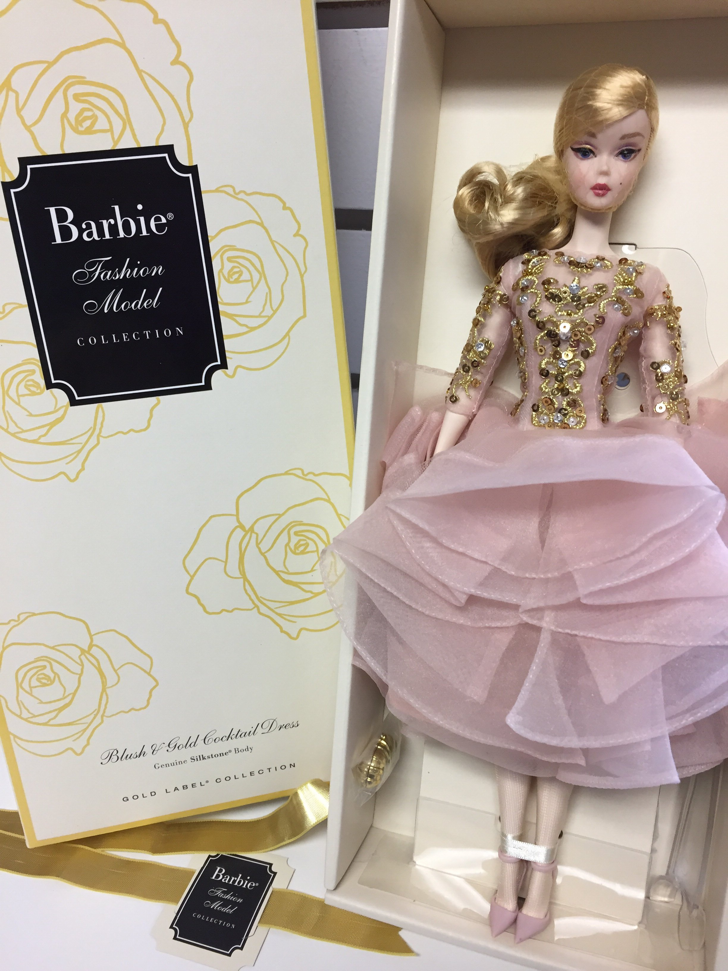 Barbie Fashion Model Collection Blush And Gold Dress